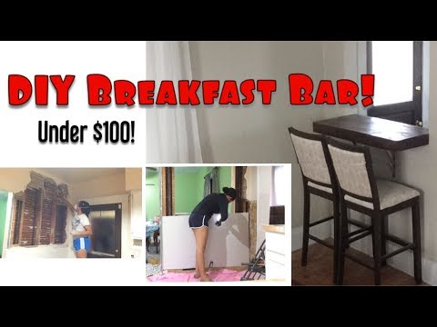 🔴BUILDING A BREAKFAST BAR (PART 1) | EXTREME KITCHEN RENOVATION | DIY