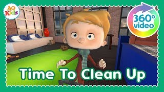 Time to Clean Up (360° Video) | Kid's Cleanup Song