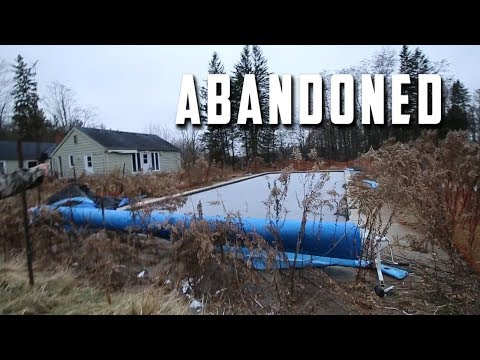 Abandoned Forgotten Farm Land With Tennis court, Pool & Stolen Bike?