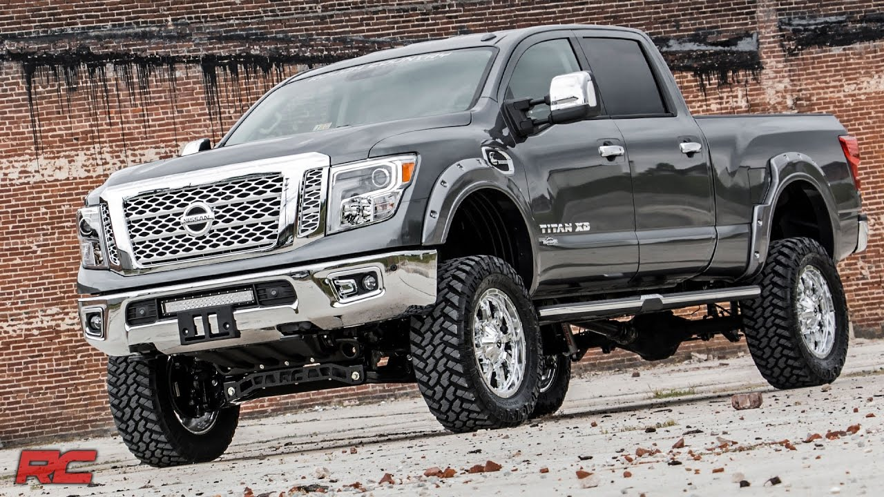 Lifted Nissan Titan >> 2016 2017 Nissan Titan Xd 6 Inch Suspension Lift Kit By Rough Country