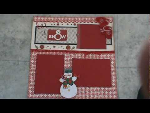 Christmas Scrapbooking Layout Ytlh Youtube