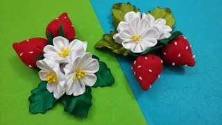 D.I.Y. Strawberry Kanzashi – Tutorial
