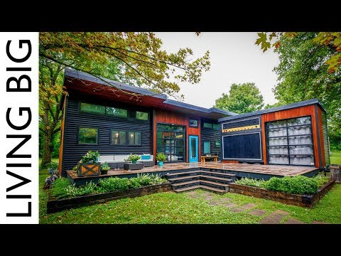 Musician's Incredible Modern Tiny House & Mobile Music Studi
