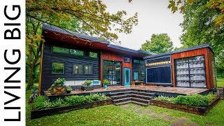 Musician's Incredible Modern Tiny House & Mobile Music Studio