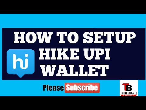Hike upi wallet || how to setup upi || create vpa || create upi pin || change upi pin ||