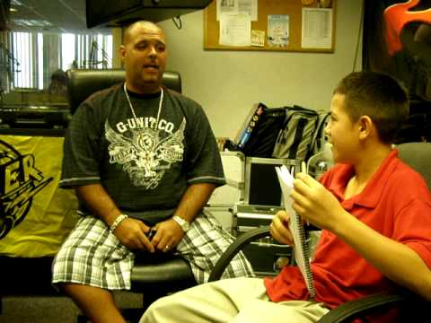 Lil Man (Anthony Vazquez) interviewing DJ Laz from POWER 96!!!