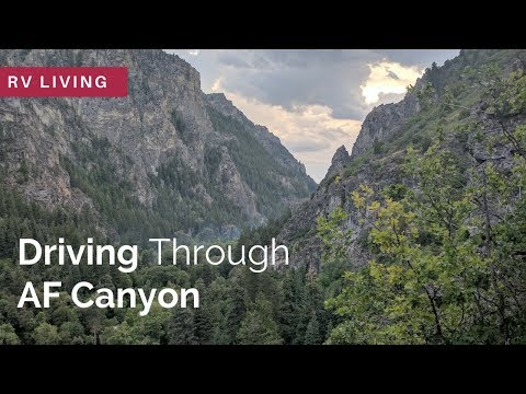 RV Living   Arriving in Salt Lake City, Utah   American Fork Canyon