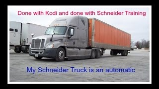 What to expect from Schneider training, I get an automatic truck, and Staying fit while trucking.