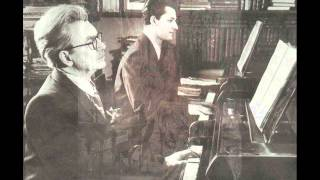 Heinrich and Stanislav Neuhaus play Mozart Sonata for Two Pianos in D major K 448