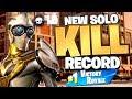 MY NEW SOLO KILL RECORD! Fortnite Battle Royale