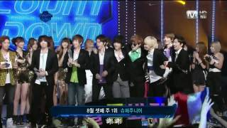 HD 110818 Super Junior - Mr. Simple 第二周第三Winner @ M!Countdown [繁體字幕]
