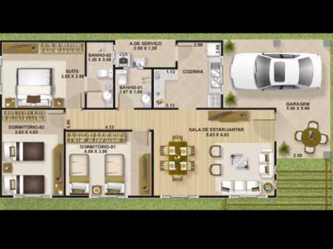 Plano de casa con 3 dormitorios y 110 metros cuadrados1 - Planos de casas minimalistas ...