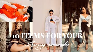 10 ITEMS YOU NEED THIS SPRING  SPRING TRENDS  TREND FORECAST  SOUTH AFRICAN YOUTUBER