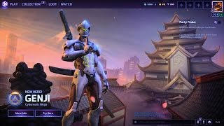 Genji main menu background and tryout. Heroes of the Storm 2 gameplay