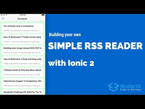 Building Your Own Simple RSS Reader with Ionic 2