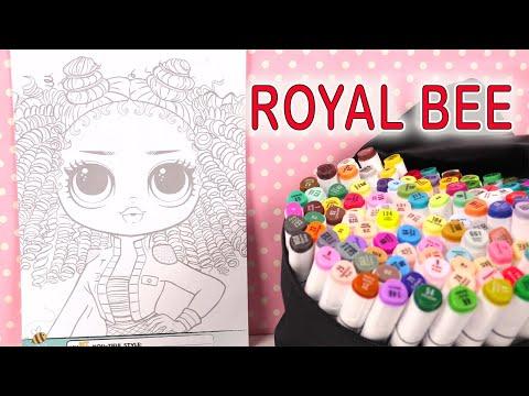 poupées-lol-omg-royal-bee-coloring-coloriage-kit-activités