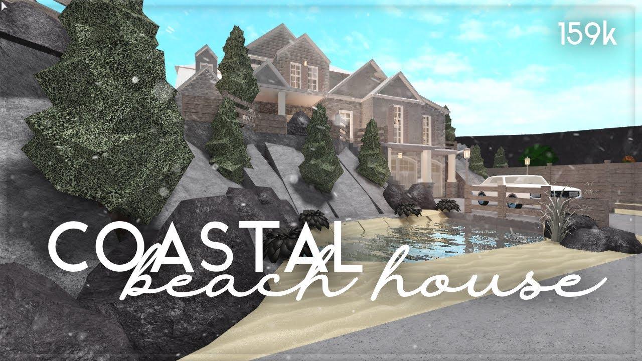 Roblox Bloxburg Hillside Beach House House Build Youtube