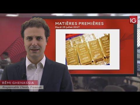 Bourse - Cours de l'or, dans l'attente d'un signal technique - IG 25.07.2017