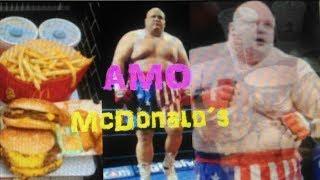 El luchador que sucumbio a su adiccion al McDonald