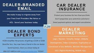 Need an Affordable Car Dealer Bond? www.Cal-Surety.com