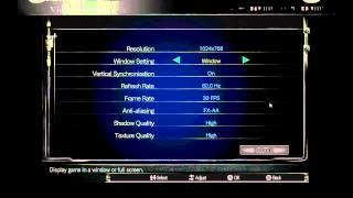 Resident Evil HD Options Menu on PC