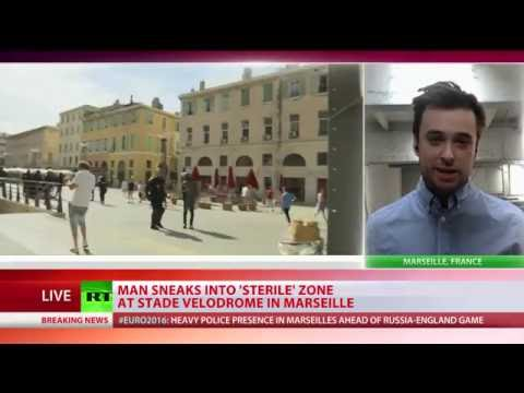 Reporter sneaks into 'sterile' zone of Marseilles stadium ahead of Euro 2016 match