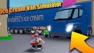 I BOUGHT A TRUCK FULL OF ICE CREAM!! 😱😂 roblox Ice Cream Van Simulator