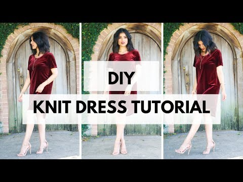HOW TO SEW A KNIT DRESS - LAURA PATTERN