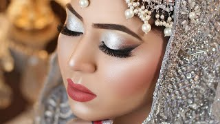 Walima bridal makeup tutorial | Silver Eyes makeup with Smudge Liner