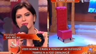 Gigi Becali catre Madalina Pamfile -Mi-e mila de tine, de aia iti vorbesc