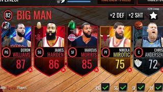 BEST BEARDED TEAM IN THE GAME!! (Themed Team) NBA LIVE MOBILE!