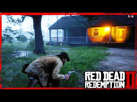 RDR2 robbing houses and stealing items Free roam Gameplay