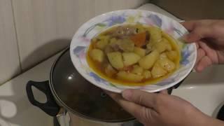 Жаркое по домашнему Тушеная картошка с мясом в кастрюле Рецепт вкусной картошки с мясом