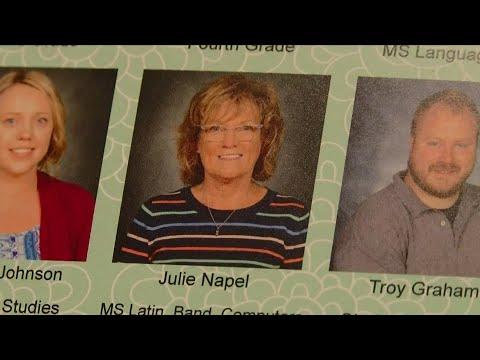 Recognizing retiring U.P. teachers: Julie Napel, Father Marquette Catholic Academy