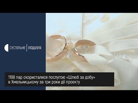 UA: ПОДІЛЛЯ: 1198 пар скористалися послугою «Шлюб за добу» в Хмельницькому за три роки дії проєкту