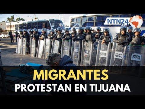 Un grupo de migrantes centroamericanos fue desalojado de albergue en Tijuana