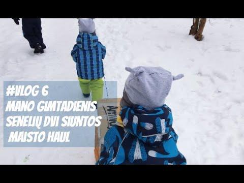 #vlog 6 - Mano gimtadienis / Senelių dvi siuntos / Maisto Haul / Vegan Pipiras