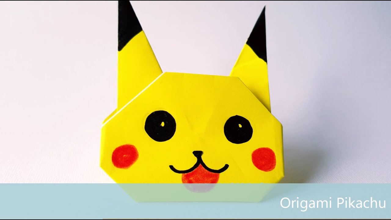 Origami Pikachu Tutorial - Cute Origami Pokemon | Origami crafts ... | 720x1280