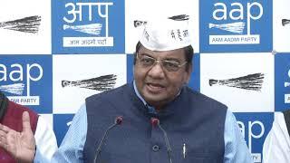 AAP RS Member Sushil Gupta Briefs Media on Vijender Gupta's Statement on Delhi CM Arvind Kejriwal
