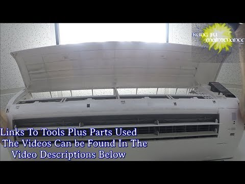 Mini Split Air Conditioner How To Deep Clean AC Evap Coil Plus Pan To Rid Stinks And Smells