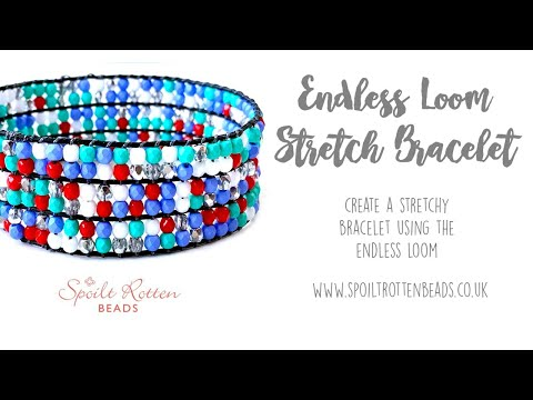 Endless Loom Stretch Patchwork Bracelet Beading Tutorial