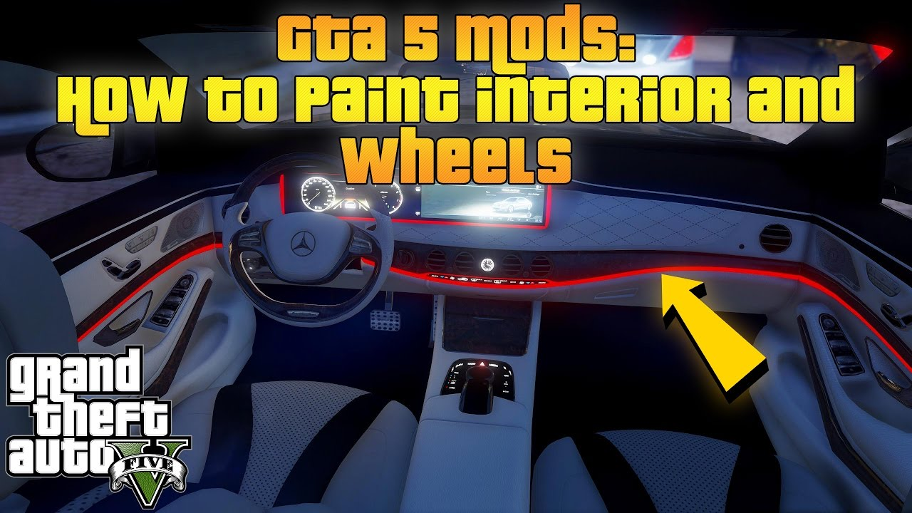 GTA 5 Mods: How to paint interior and wheels (Menyoo PC & Simple Trainer)