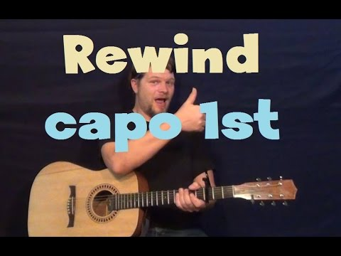 Rewind (Rascal Flatts) Easy Strum Guitar Lesson Capo 1st Fret How To Play Tutorial