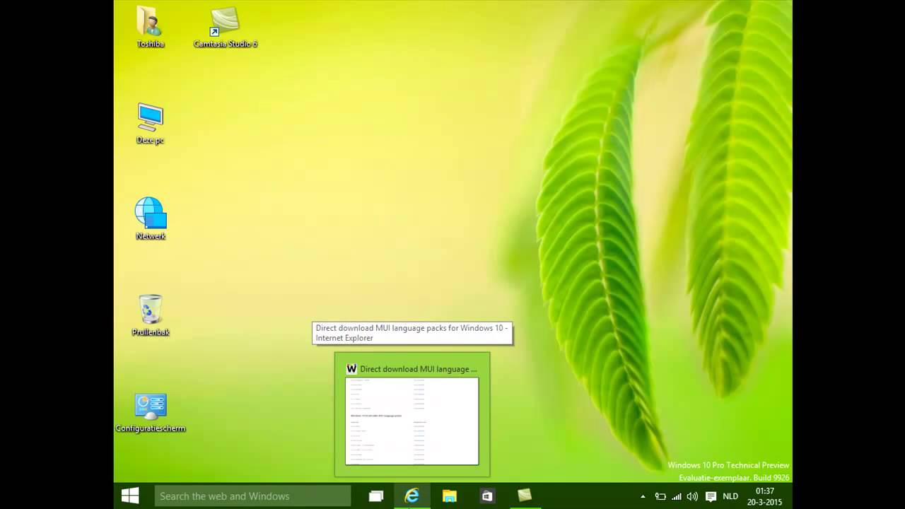 microsoft windows 10 technical preview language pack 9926