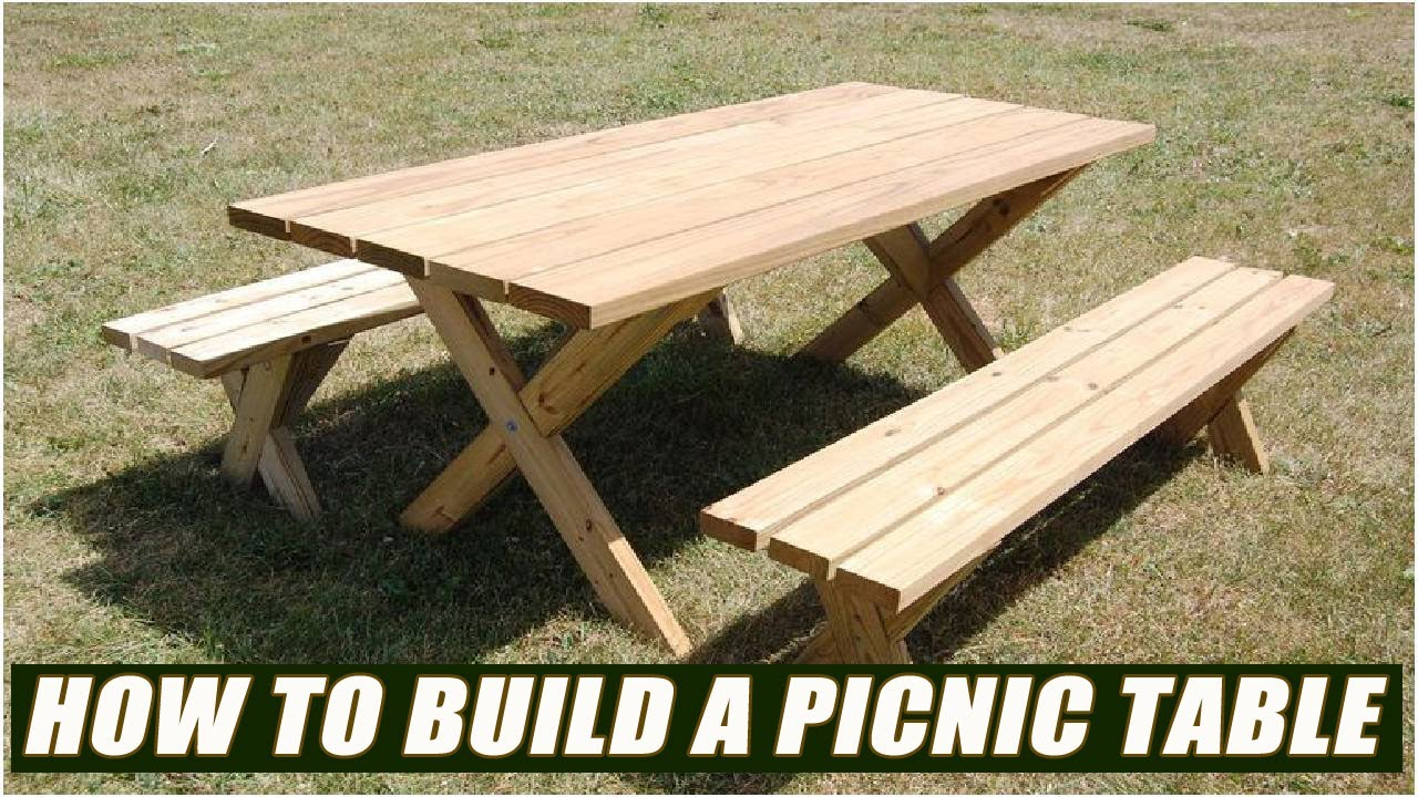 how to build a picnic table bench youtube
