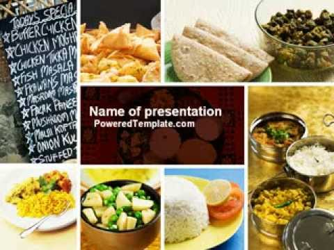 Indian food powerpoint template by poweredtemplate youtube forumfinder Images