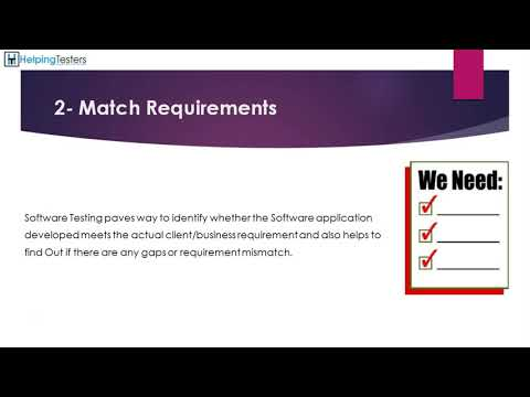 What is Testing - Software Testing Tutorial 1 thumbnail