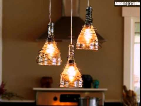 Diy wine bottle pendant lights