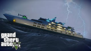 Massive Waves MOD (GTA V) Trying to Survive in a Yacht & More!