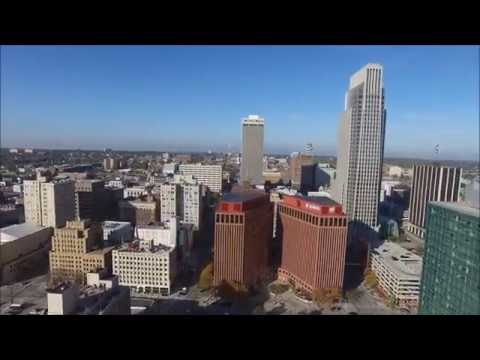 Flying  over Omaha, NE, USA - HD Photography Drone